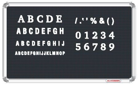 Alkosign display board for Display board lettering